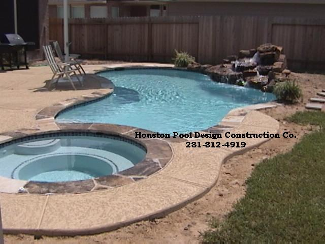 swimming pools houston swimming pool builder and spa waterfall builders in houston texas houston pool design construction co - Swimming Pool And Spa Design