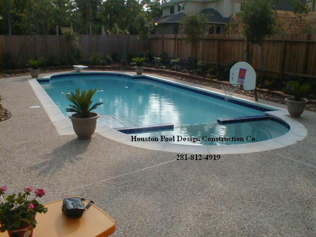swimming pools houston pool builder and spa waterfall - Swimming Pool And Spa Design